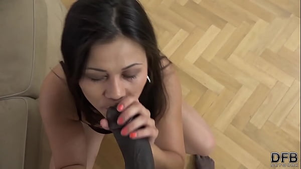 White slut gets fucked by black man in interracial porn casting